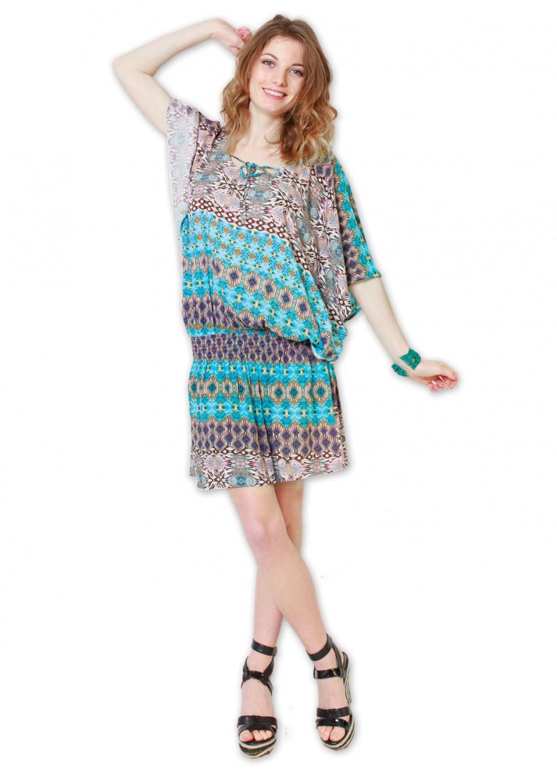 Robe GRAZIELLA Imprimé 7 Turquoise