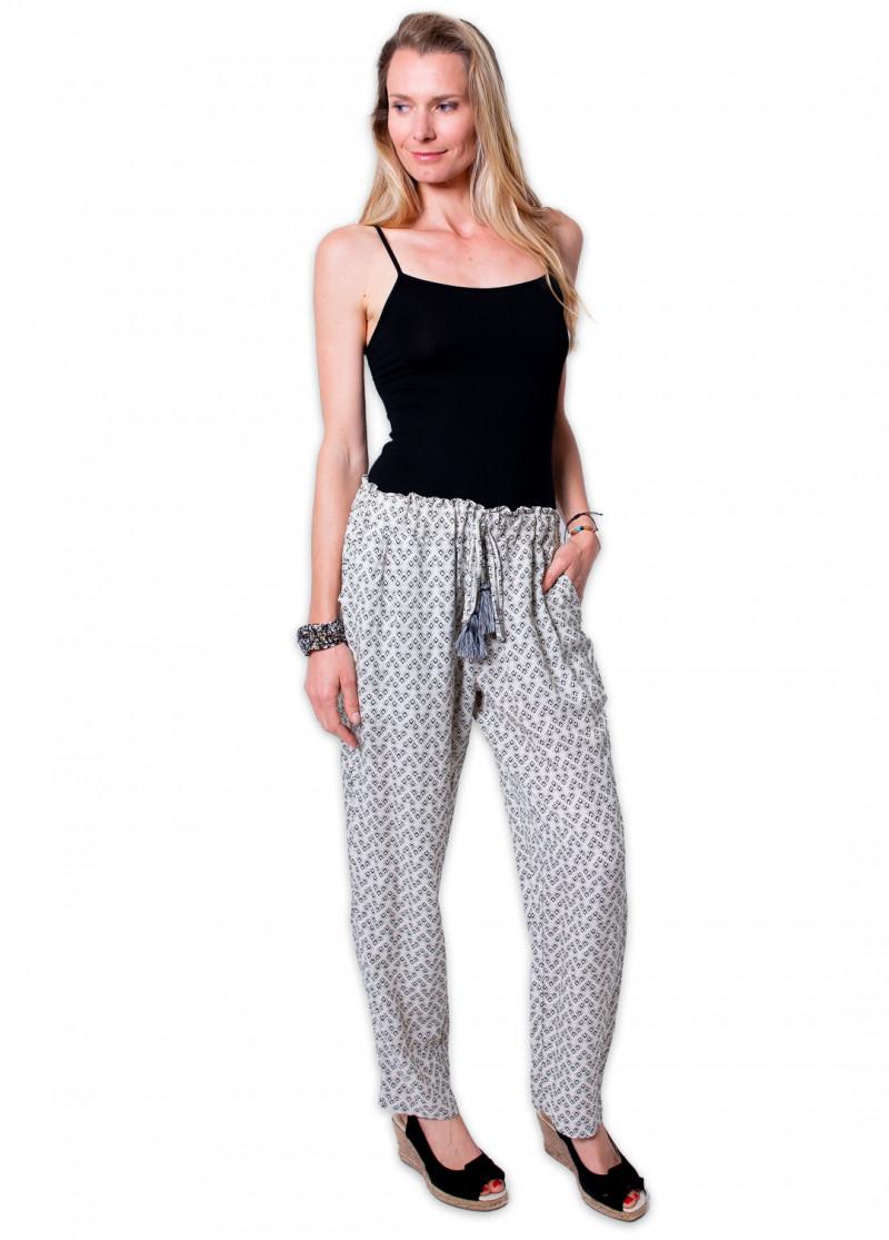 Pantalon JIMMY Imprimé 23 Blanc