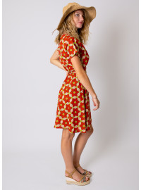 Robe MELISSA Imprimé 16 Orange