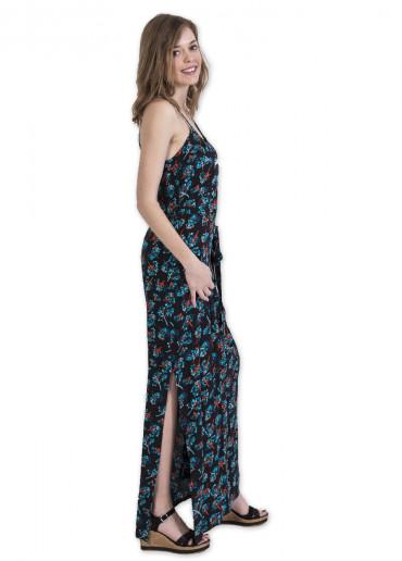 Robe Longue MARISSA Imprimé 29 Noir