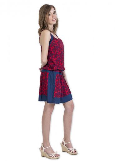 Robe CHAIMA Imprimé 31 Rouge