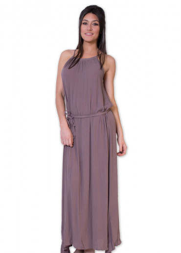 Robe longue ANGELINE Taupe