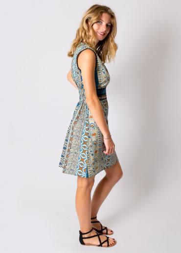 Robe ANNA Imprimé 19 Bleu