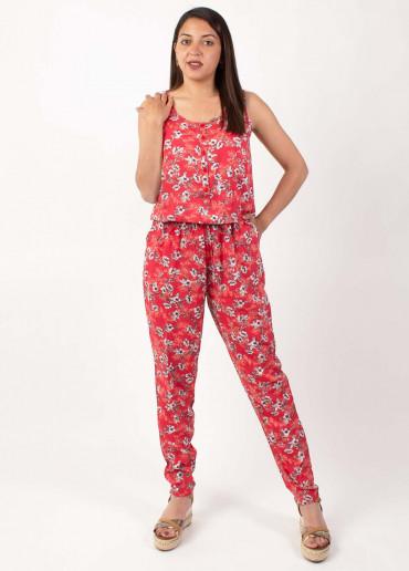 Combi-pantalon Anny 8 Rouge