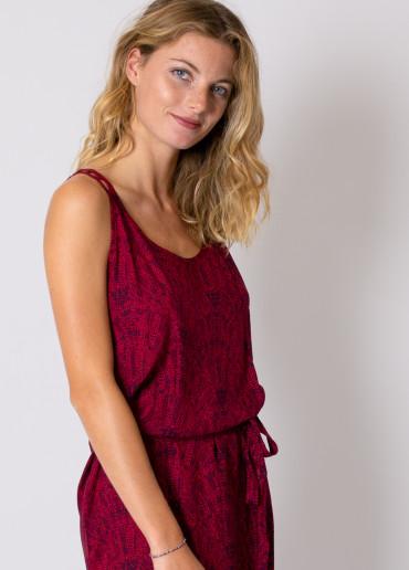 Robe Longue LAETITIA Imprimé 47 Rouge