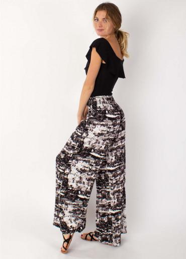 Pantalon SANDY Imprimé 17 Noir