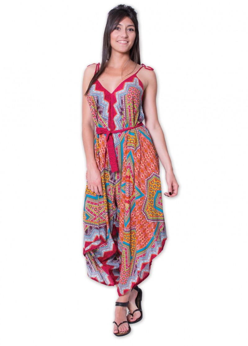 Combi-pantalon MARION Imprimé 45 Rouge
