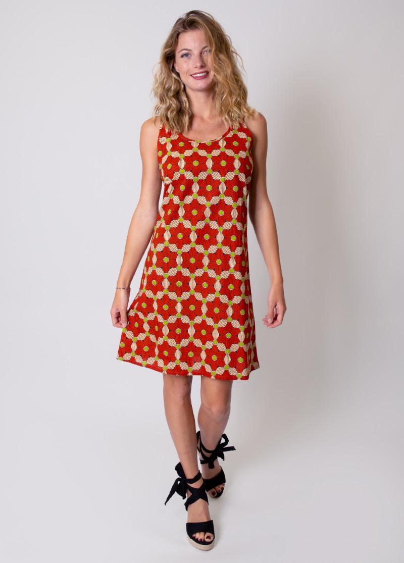 Robe MAEVA Imprimé 16 Orange