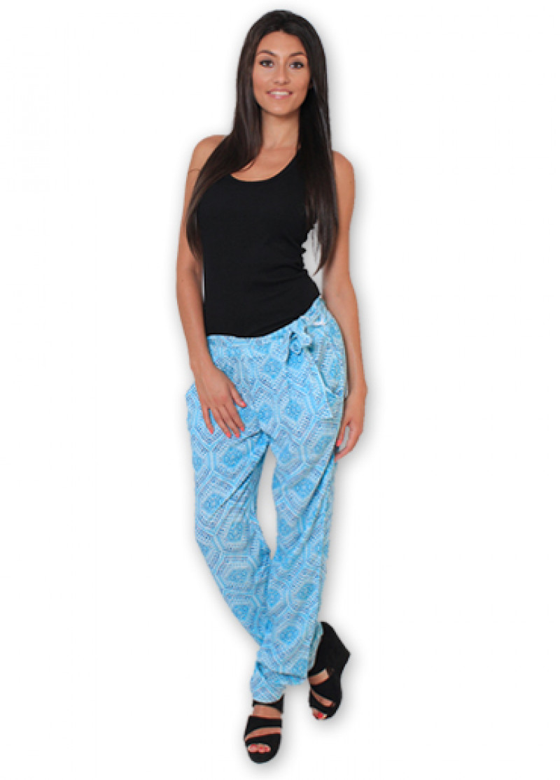 Blue Printed ALLY Trousers