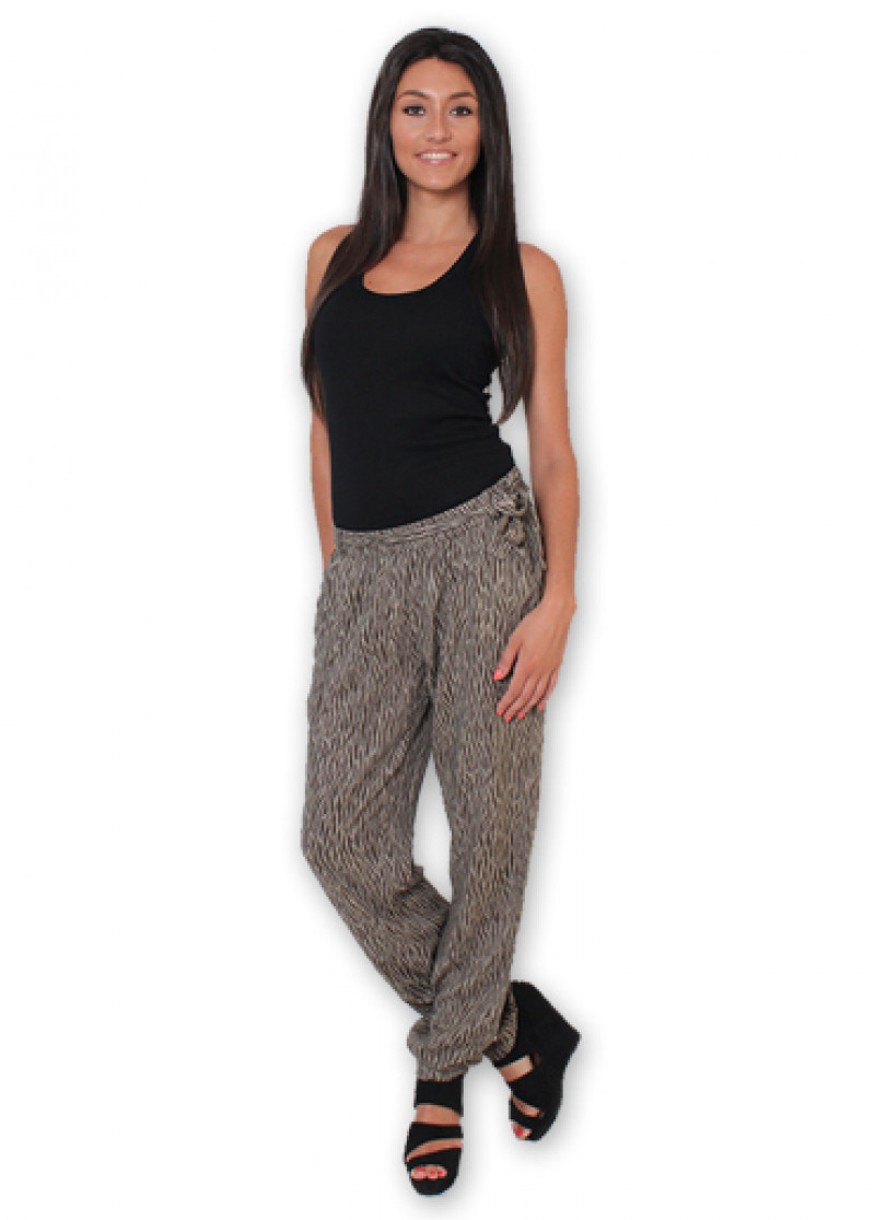 Brown Printed ALLY Trousers