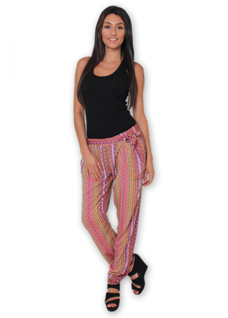 Pink Printed ALLY Trousers