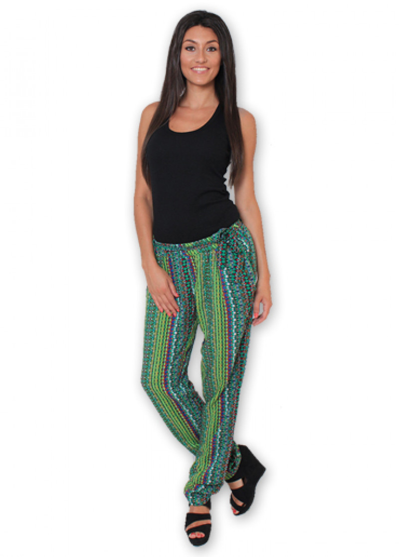 Green Printed ALLY Trousers