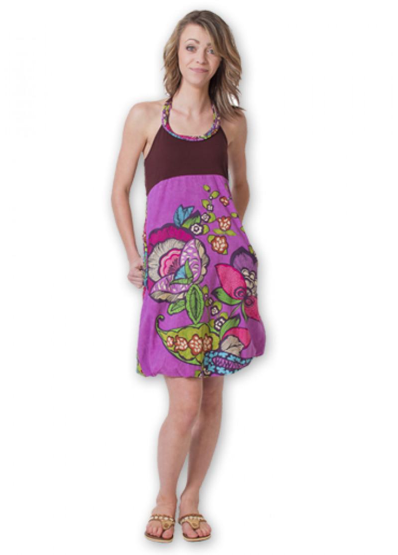 Brown BALLON Dress