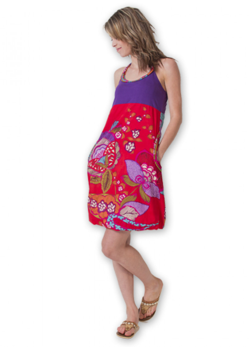 Purple BALLON Dress
