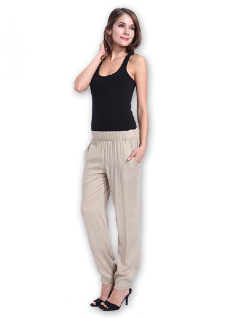 Beige BETTY Trousers