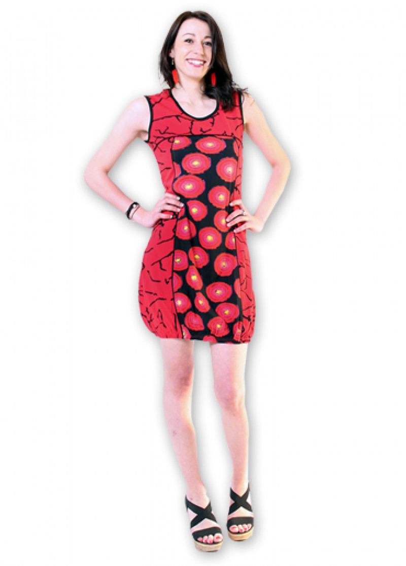 Red DOUNIA Dress
