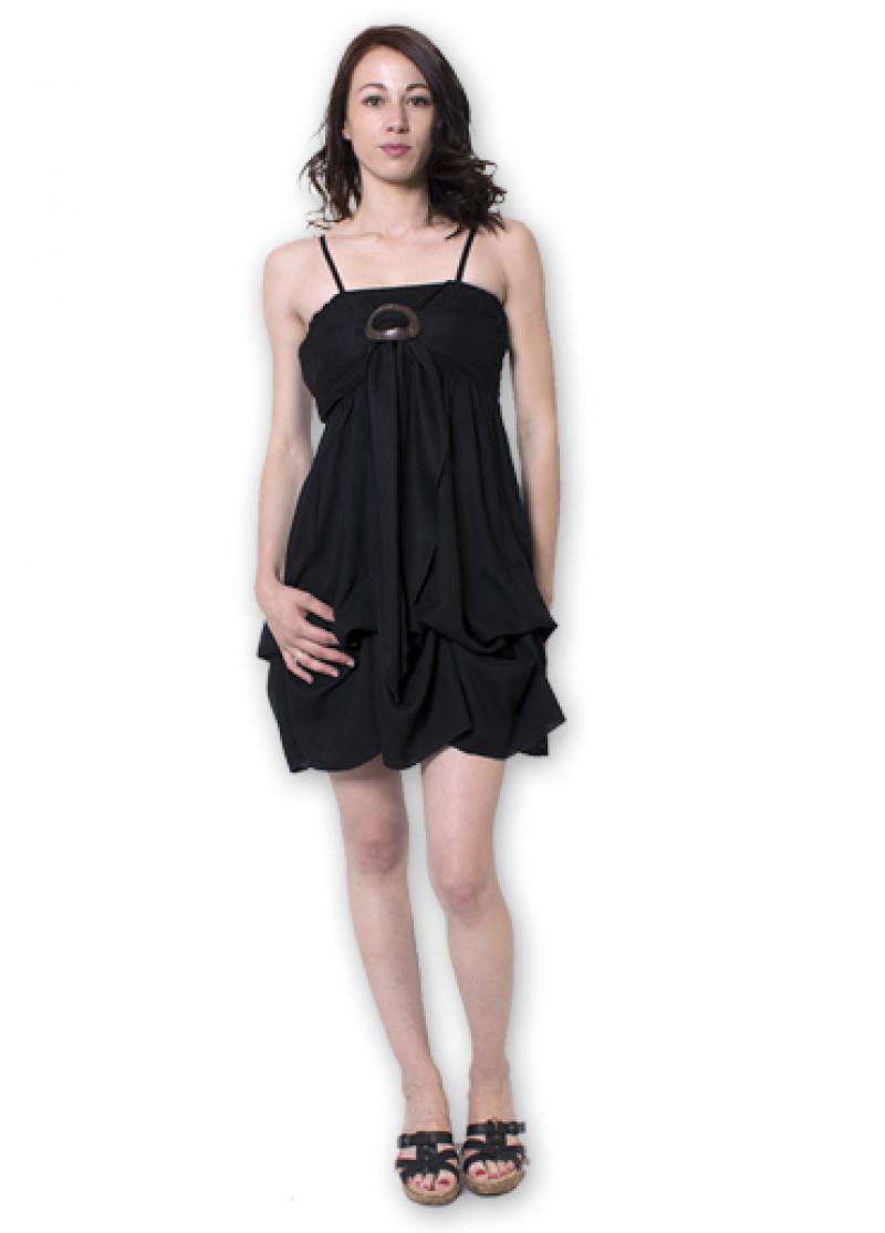 Black GALINA Plain Dress