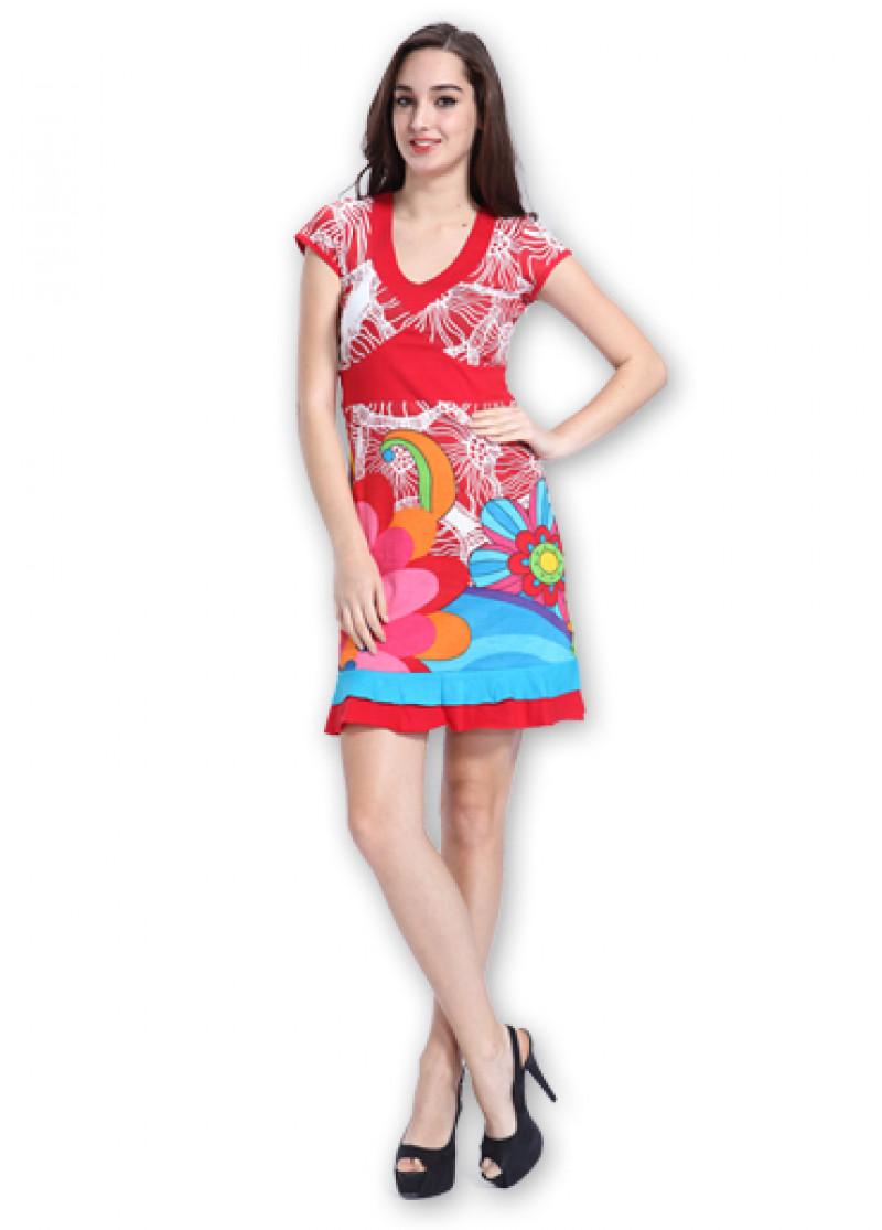 Red LEA Dress
