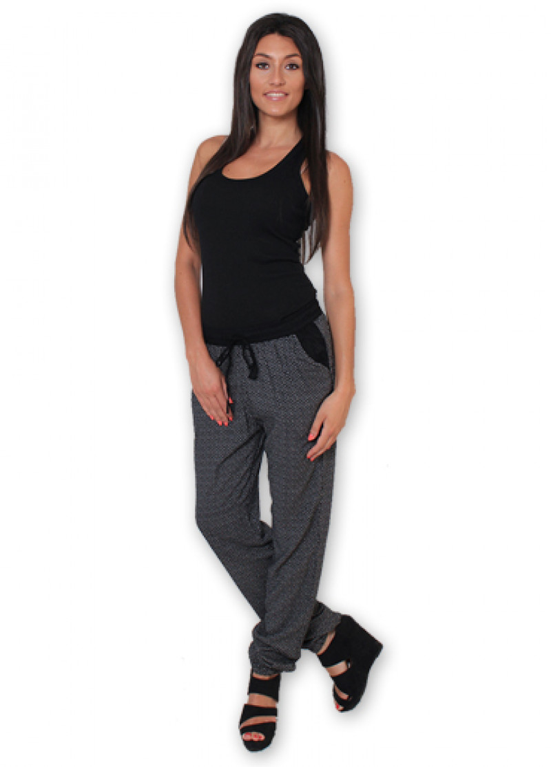 Black LEXY Printed Trousers