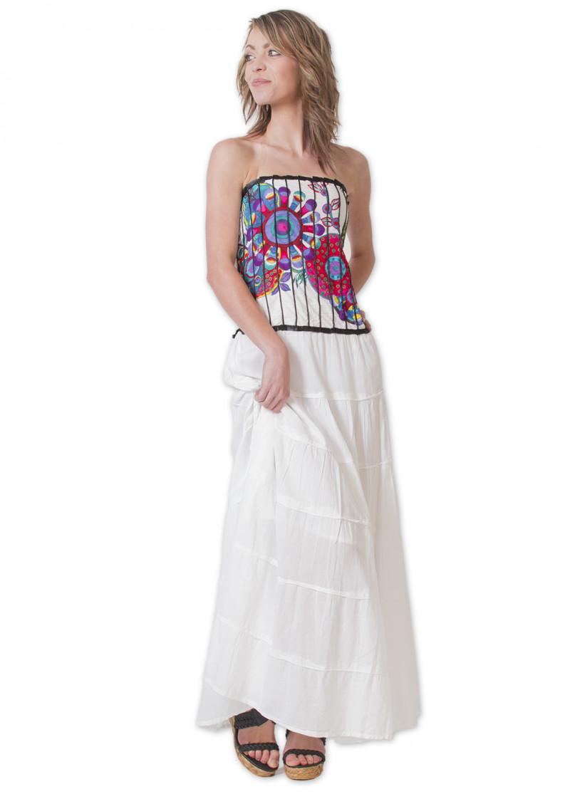 Robe Longue OCELIA Blanc