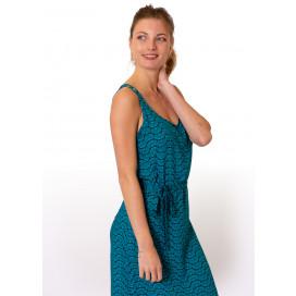 Robe Longue LAETITIA Imprimé 30 Bleu