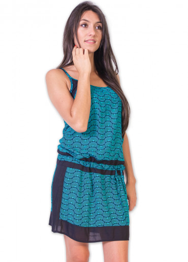Robe CHAIMA Imprimé 30 Bleu