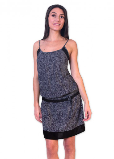 Robe CHAIMA Imprimé 19 Noir