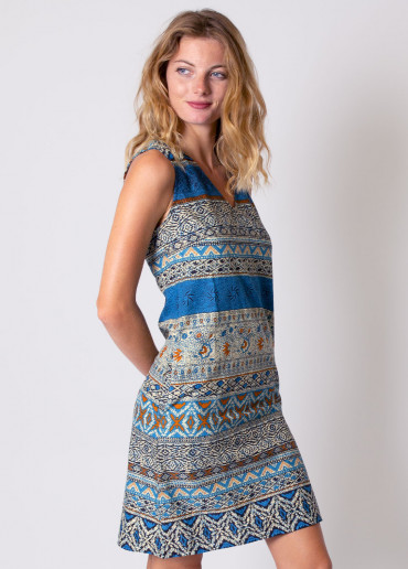Robe DIANA Imprimé 19 Bleu
