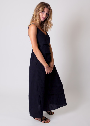 Robe longue LAURA Noir