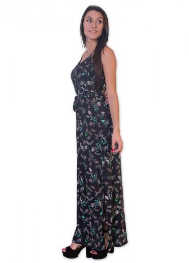 Robe Longue MARISSA Imprimé 9 Noir