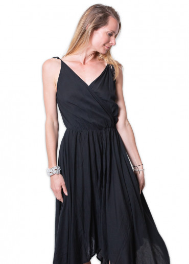 Robe mi-longue PAULINE Noir