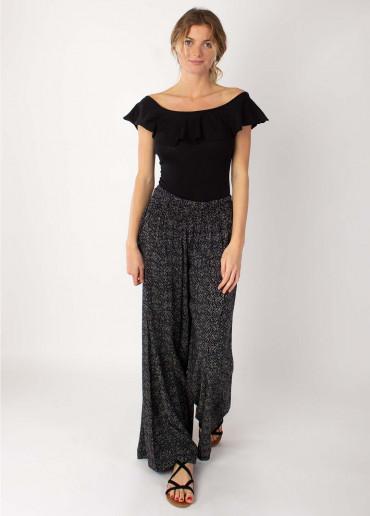 Pantalon SANDY Imprimé 20 Noir