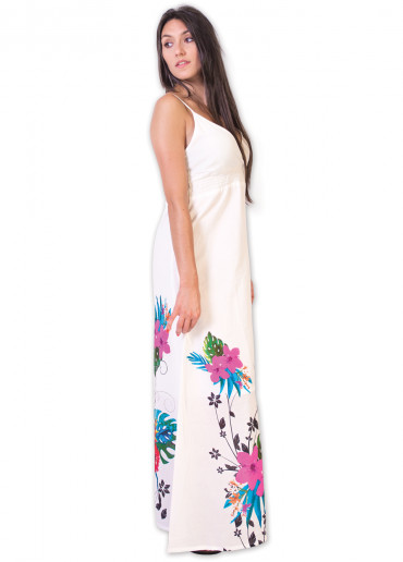 Robe longue VIVIANA Blanc