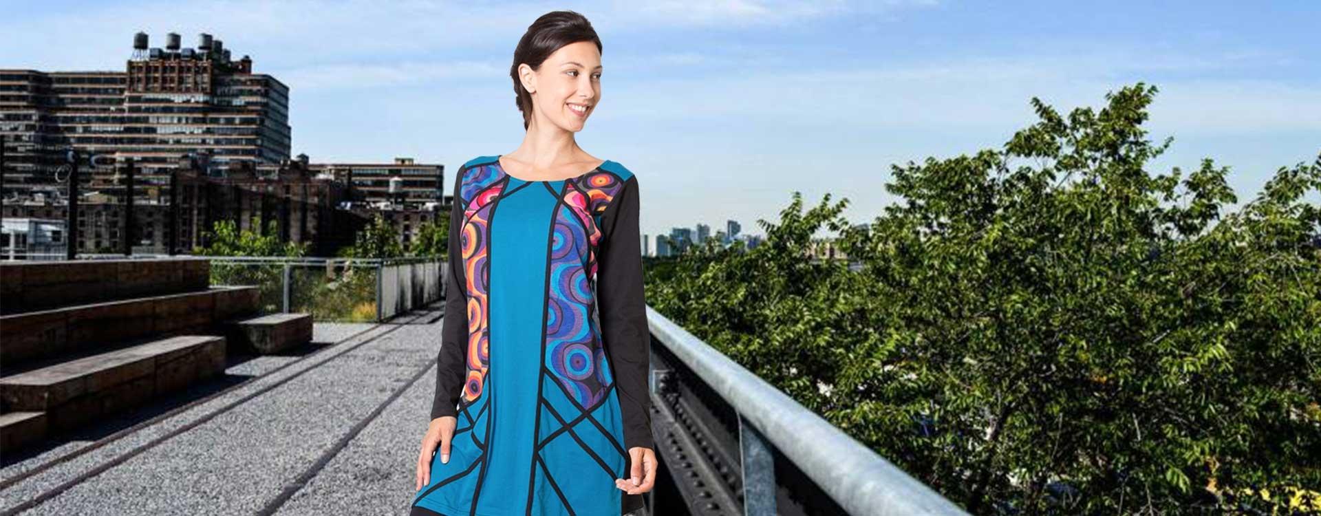 robe ethnique motifs colorés coton du monde