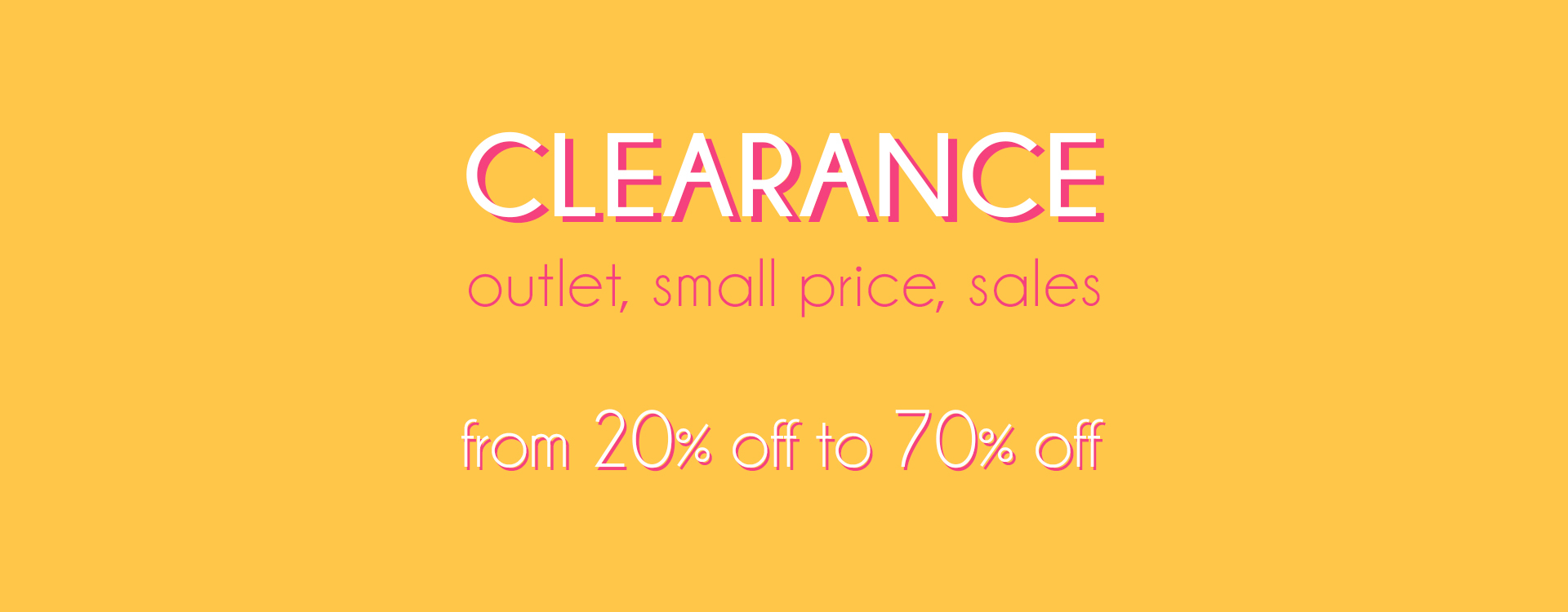 clearance outlet 60