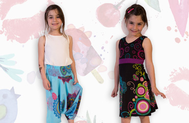 collection enfant motifs colorés