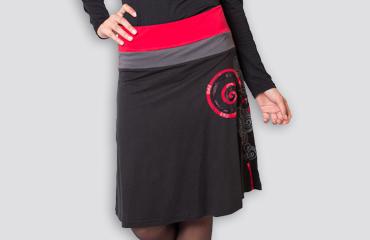collection hiver jupe motifs colorés