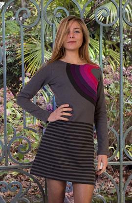 robe hiver motifs colorés tendance