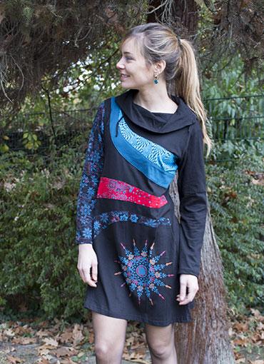 Robes automne ethnique coton du monde
