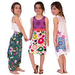 grossiste vêtement enfant motifs colorés